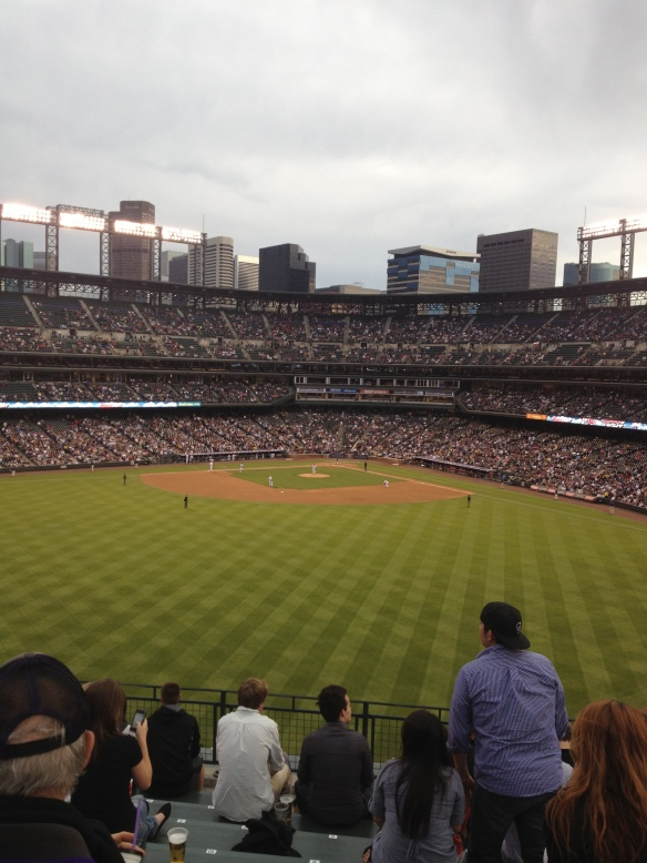 View from the Rockpile, Coors Field