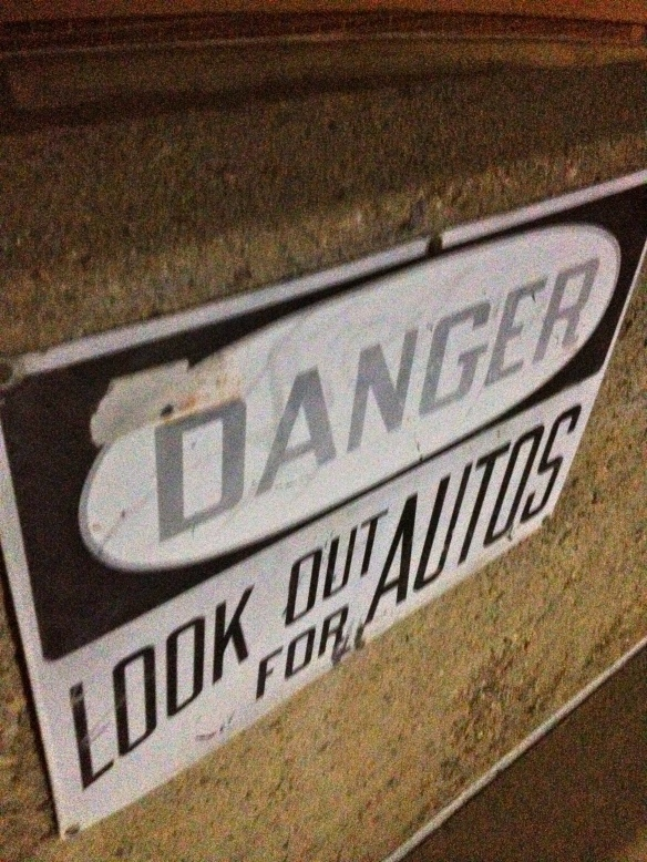 Danger, look out for autos