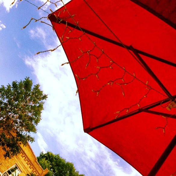 Red Umbrella, Blue Sky, Brunch